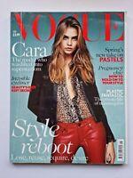 Vogue Magazine UK January 2014 Cara Delevingne Style Reboot Fashion
