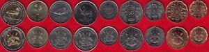 Uganda set of 9 coins: 1 - 1000 shillings 1987-2012 UNC