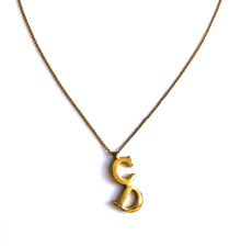 Christian Dior Necklace Gold CD Letters