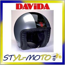 80200 CASCO DAVIDA 80-JET TWO TONE SILVER / BLACK TAGLIA XL