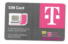2x New $0 T-Mobile GSM 4G LTE and 5G Factory 3 in 1 Triple Cut Sim Card