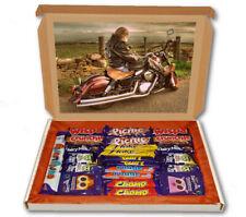 Retro Biker Motorbike 24 Bar Cadbury Chocolate Hamper Personalised Gift Box