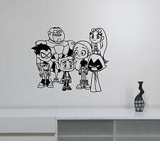 Teen Titans Wall Sticker Cartoon Superheroes Decal Vinyl Art Kids Room Decor tt3
