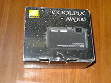 New Open Box - Nikon Coolpix AW100 16MP Waterproof Camera - BLACK - 018208262908