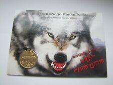 blister 2 zł.  seria zwierzęta wilki