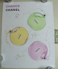 """Chanel Chance Collection Perfume Poster 22"""" x 28"""" 3 Bottles Spinning heavy stock"""