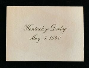 1960 Kentucky Derby Special Invitation T&P Texas and Pacific Railroad Railway
