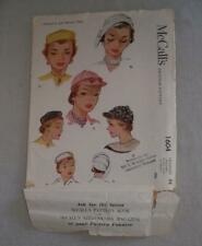 Vintage Womens Sewing Pattern Hat 1951 McCall 1604