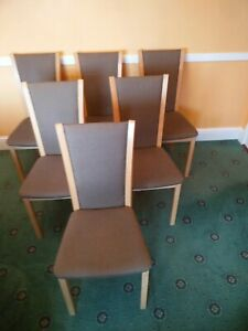 6 Skovby Dinning seats in Maple good condition