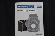 Mamiya 645 Power Grip Wg402 instructions
