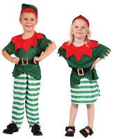 CHRISTMAS ELF KIDS BOYS GIRLS TODDLERS SANTAS HELPER FANCY DRESS COSTUME AGE 2-4