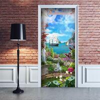 PT0245 Decorazione Adesiva bubble free per Porta arredo casa anta 100x210 cm
