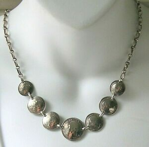 WWII Australian Coin Necklace Sterling Silver Trench Art