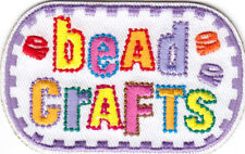 """BEAD CRAFTS""  Iron On Embroidered Patch Hobby Craft Jewelry Gems"