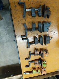 6 SETS OF PIPE CLAMPS 3 PONY 50 FOR 3/4'' PIPE, 3 MISC