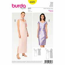 Burda 6523 Sewing Pattern Special Occasion Prom Evening Gown Formal Dress 8-18