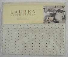 NEW Ralph Lauren Port Palace Queen Flat Sheet Dot NIP