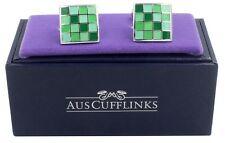 Coral Green Cufflinks Mens Gift for Him Wedding Cufflinks Groomsmen Cuff Links