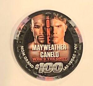 """Floyd Mayweather"" VS  ""Canelo Álvarez"" $100 MGM Casino Chip"