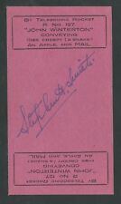 "1936 INDIA - TELESCOPIC ROCKET ""Miss Creepy"" sheet of 2, Smith signed - EZ 17A1a"