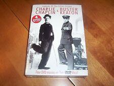 CHARLIE CHAPLIN BUSTER KEATON The KId Steamboat Bill Jr. 4 Films 2 DVD SET NEW