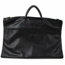 Gucci Black Leather Garment Cover Travel Bag 870824