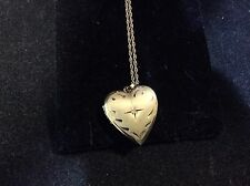 VINTAGE 14K YELLOW GOLD LOCKET PENDENT WITH MATCHING CHAIN