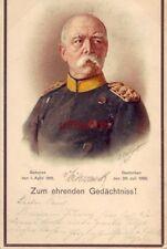OTTO VON BISMARCK 1st CHANCELLOR OF GERMAN EMPIRE ZUM EHRENDEN GEDACHTNISS 1899