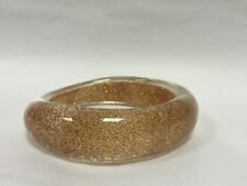 Accessorise  Gold Sparkly Clear SeeThrough Shaped Chunky Bangle