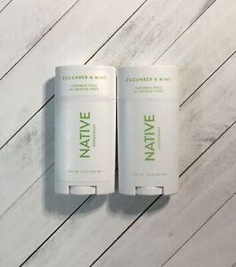 (2x) Native Deodorant Cucumber & Mint Paraben And Aluminum Free 2.65 Oz