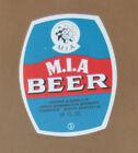 VINTAGE SOUTH AUSTRALIAN BEER LABEL - COOPERS M.I.A BEER