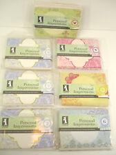 Lot of 7 Inkadinkado Personal Impressions 8 Stampable Notecards & Envelopes