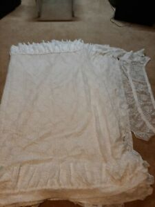 White Lacy Priscilla Curtain Panels (6 In Total)
