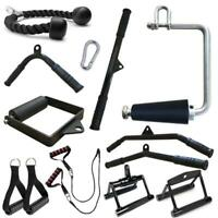 Gym Lat Pull Down Rope Pully Cable Machine Attachment Triceps Fitness T-bar