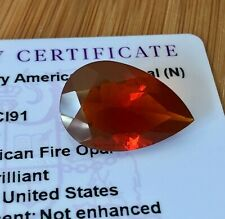 Untreated 100% Natural 15.9ct Pear Strawberry American Fire Opal Loose Gemstone