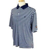 Polo Golf Men's Ralph Lauren Otter Creek GC Logo Cotton Blue Stripe Shirt XL
