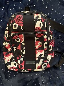 Disney Vera Bradley Alice in Wonderland Painting in Roses Backpack