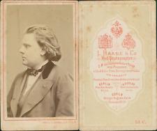 Haase, Berlin,  le violoniste allemand August Wilhelmj CDV vintage albumen - Aug