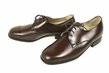 Herren Schnürschuhe Business Schuhe Leder braun Gr. 42,5 (8,5) Derby Ledersohle