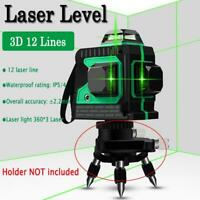12/2Line Laser Level Green Self Leveling 3D 360° Rotary Cross Horizontal Measure