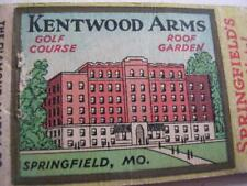 30's Pine Brook Inn Siloam Springs & Kentwood Arms Springfield MO DQ Matchcover