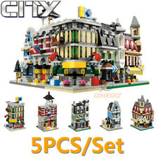 Vegetable Coffee Shop Street View Building Blocks Toy Bricks MOC