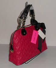 Betsey Johnson One and only Now Dome Bag on Fuchsia Tone **