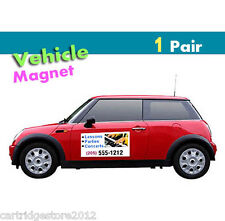 Pair of  12x18  Quality Magnetic Signs for Vehicle  [30 mil] - RemovabletOutdoor