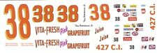 #38 Tony Bettenhausen Vita-Fresh 1/32nd Scale Slot Car Waterslide Decals