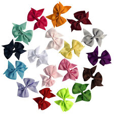 20pcs 3.5 Inch Baby Hair Bows Clip For Girls Kids Hair Band Alligator Hair Clips