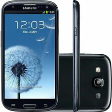 SAMSUNG GALAXY S3 Black I9300 NEW BOXED MOBILE PHONE UNLOCKED SIM FREE..
