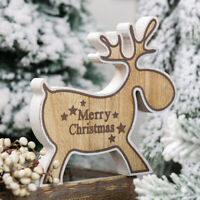 Christmas Wooden Ornaments Elk Pendant Craft Decor For Home Party Decorations 🔥