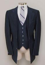Vintage Mens 42R Phoenix Blue Stripe Vest and Jacket Set