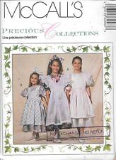 UNCUT sewing pattern McCall's 6258 vintage girls 6-8 pinafore dress petticoat FF